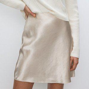 NWT aritzia babaton mini slip skirt